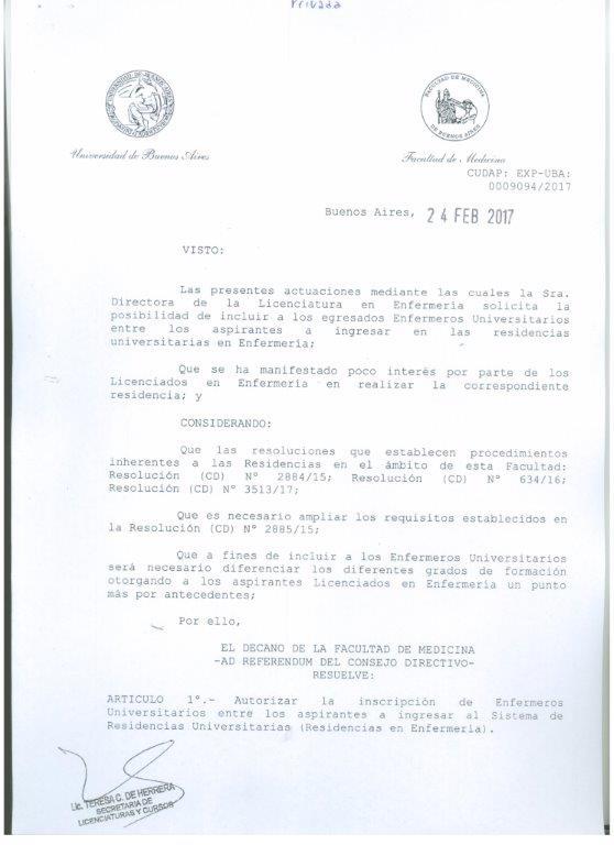 Información Residencias - Medicas Facultad de Medicina - UBA
